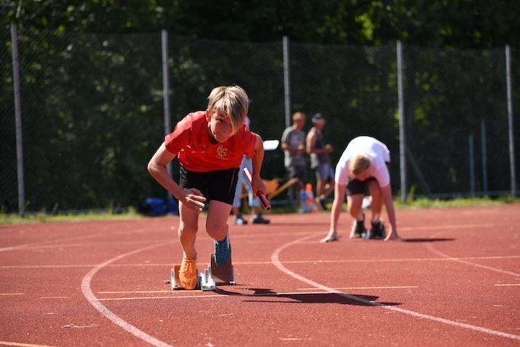 Start beim Staffellauf